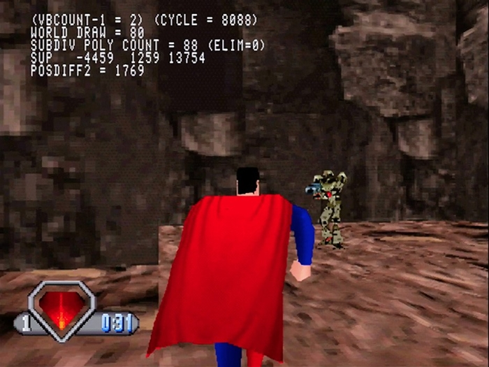 superman psx 02 - Prototyp gry Superman na PSX ma wkrótce trafić do sieci. Zapraszam na gameplay z gry.