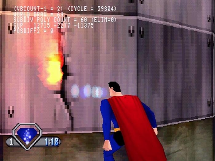 superman psx 05 - Prototyp gry Superman na PSX ma wkrótce trafić do sieci. Zapraszam na gameplay z gry.