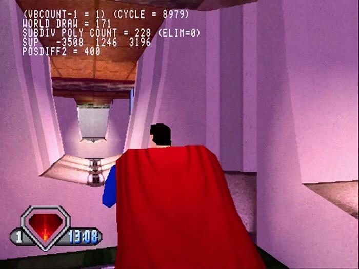 superman psx 07 - Prototyp gry Superman na PSX ma wkrótce trafić do sieci. Zapraszam na gameplay z gry.