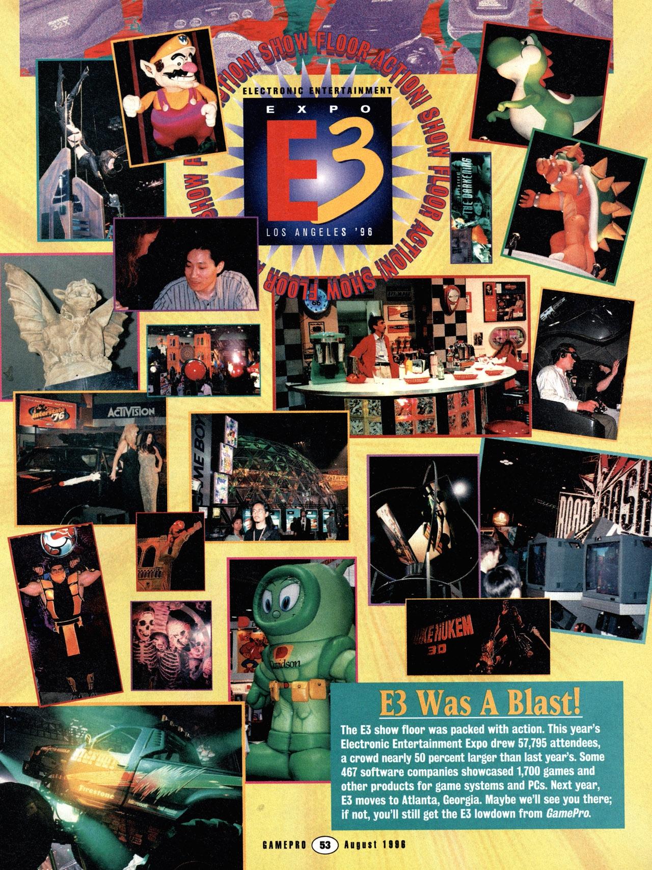 e3 1996 3 - Historia targów E3 z 1996 roku. Nintendo 64 wkracza na salony.