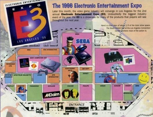 e3 1996 map - Historia targów E3 z 1996 roku. Nintendo 64 wkracza na salony.