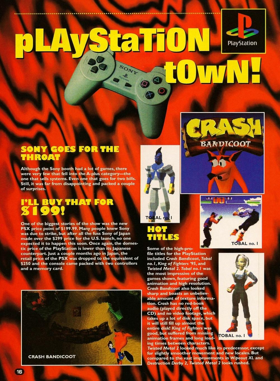 e3 1996 playstation - Historia targów E3 z 1996 roku. Nintendo 64 wkracza na salony.