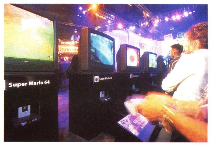 e3 1996 super mario 64 - Historia targów E3 z 1996 roku. Nintendo 64 wkracza na salony.