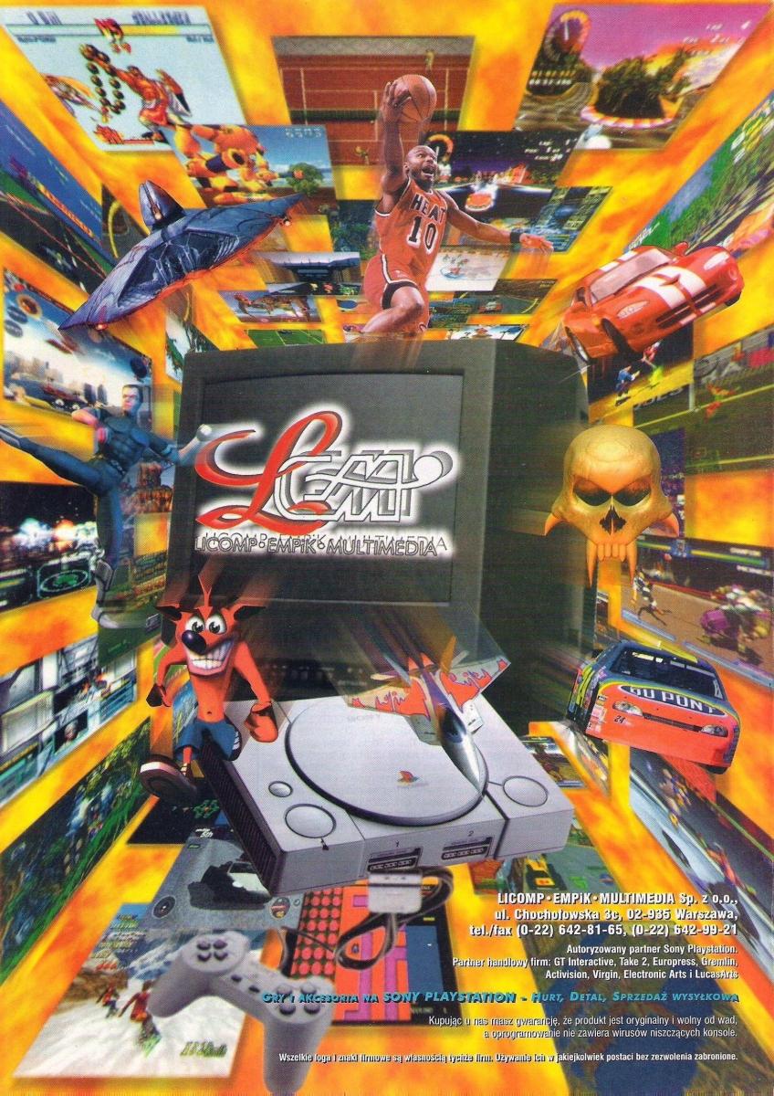 lem psx - TOP 10 najlepiej sprzedających się gier na PSX w Polsce w latach 97-99