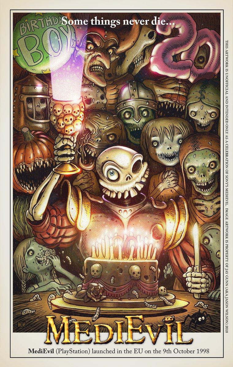 medievil poster - Dan Fortesque obchodzi dziś swoje urodziny. MediEvil ma już 20 lat!