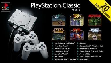 ps classic gry baner 384x220 - PS Classic z pełną listą wbudowanych gier. Różnice pomiędzy Europą/Ameryką, a Japonią oraz pierwsze wrażenia.