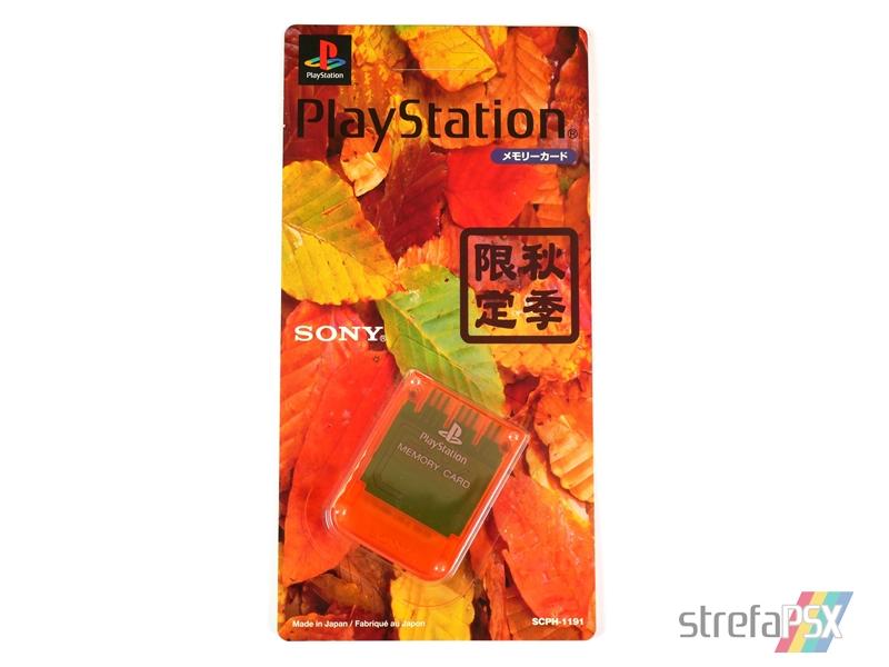 "memory card scph 1191 01 - [SCPH-1191] Memory Card / Karta pamięci ""Autumn Orange"""