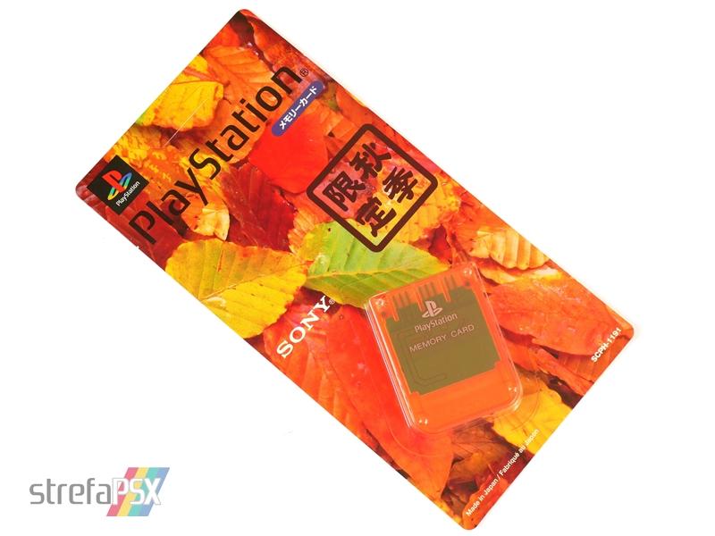 "memory card scph 1191 02 - [SCPH-1191] Memory Card / Karta pamięci ""Autumn Orange"""