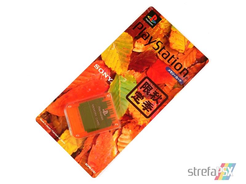 "memory card scph 1191 03 - [SCPH-1191] Memory Card / Karta pamięci ""Autumn Orange"""