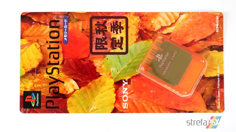 "memory card scph 1191 11 - [SCPH-1191] Memory Card / Karta pamięci ""Autumn Orange"""