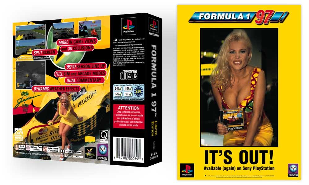 playstation f197 limited edition 21 - Limitowana edycja PlayStation Jordan Grand Prix. Niezwykła historia premiery gry Formula 1 97.