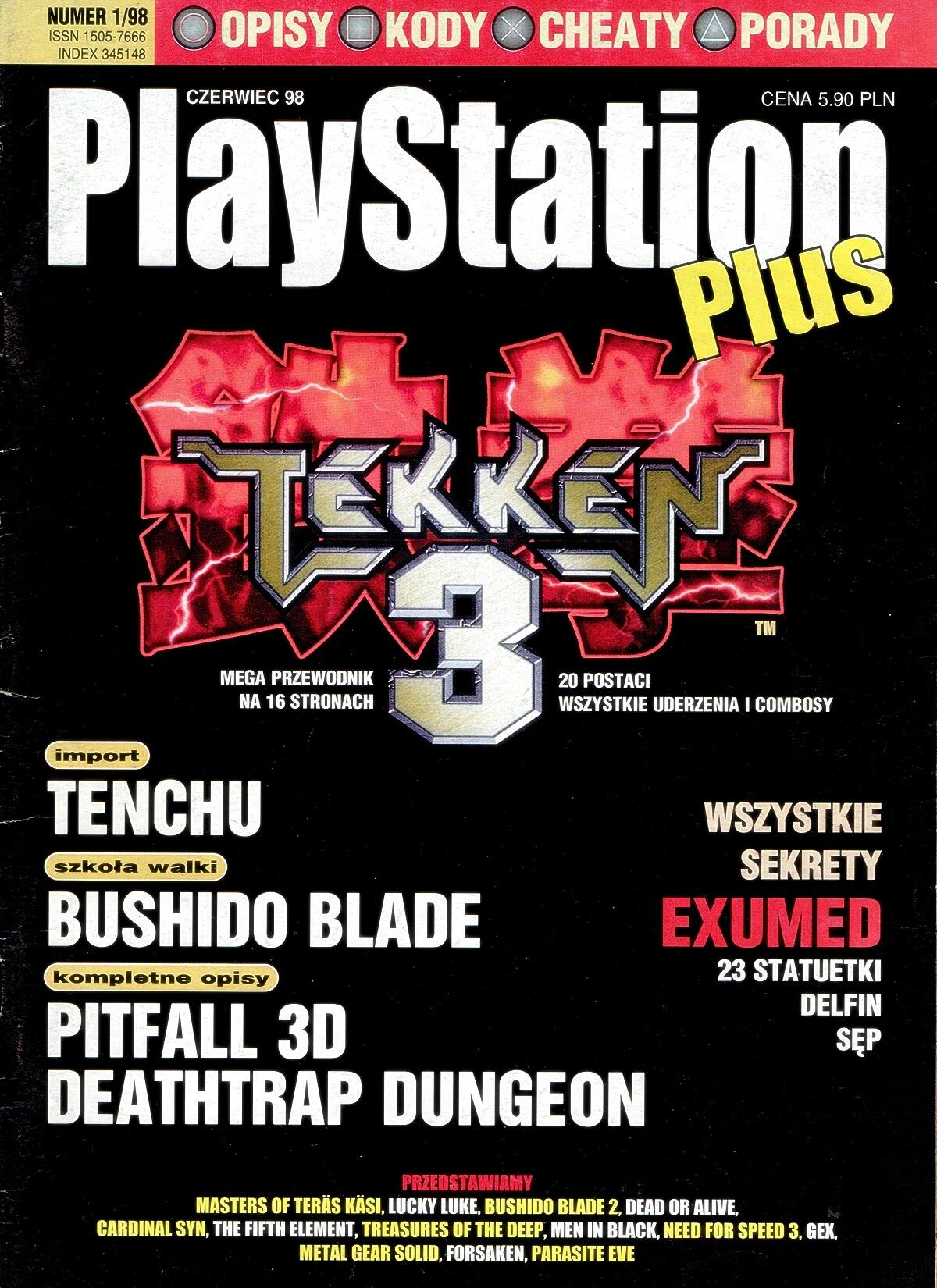 playstation plus magazyn 01 - PlayStation Plus 1/98
