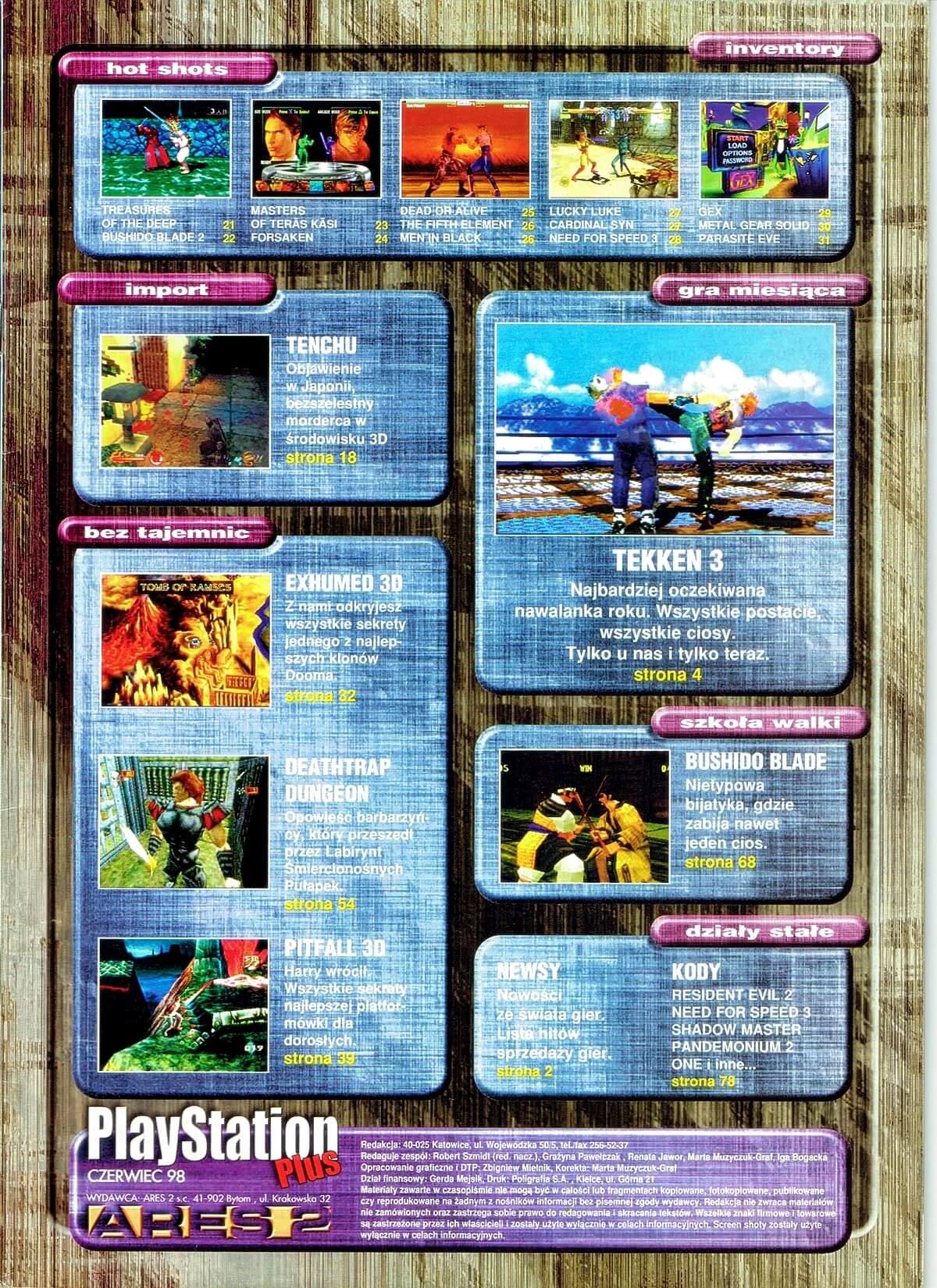 playstation plus magazyn 03 - PlayStation Plus 1/98