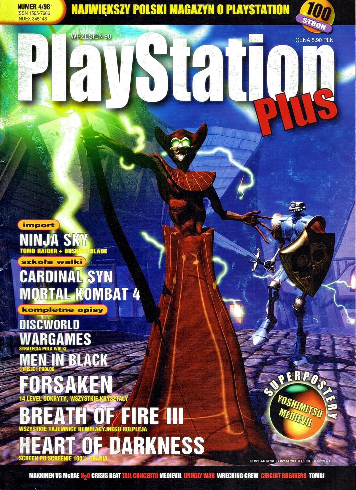 playstation plus magazyn 07 - PlayStation Plus 4/98