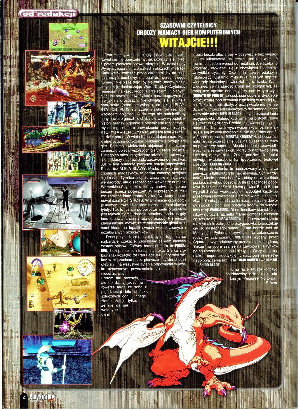 playstation plus magazyn 08 - PlayStation Plus 4/98
