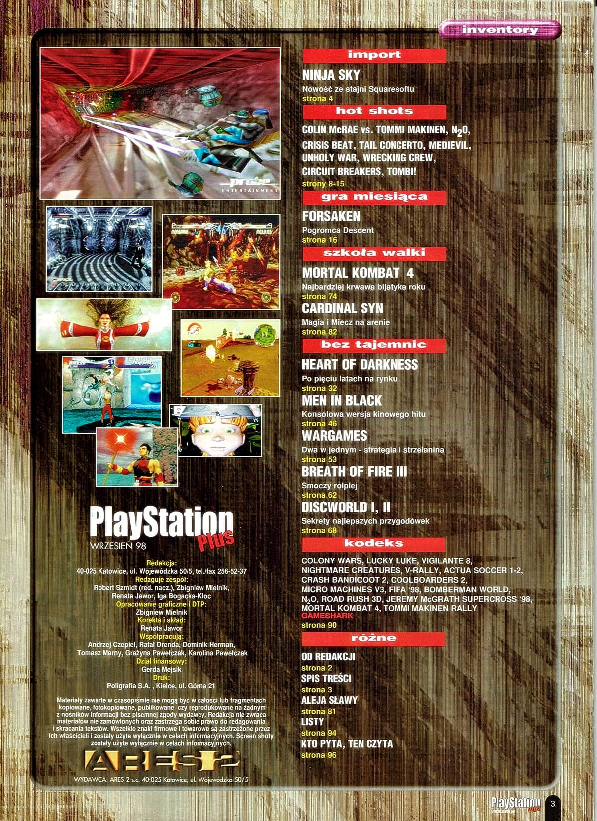 playstation plus magazyn 09 - PlayStation Plus 4/98