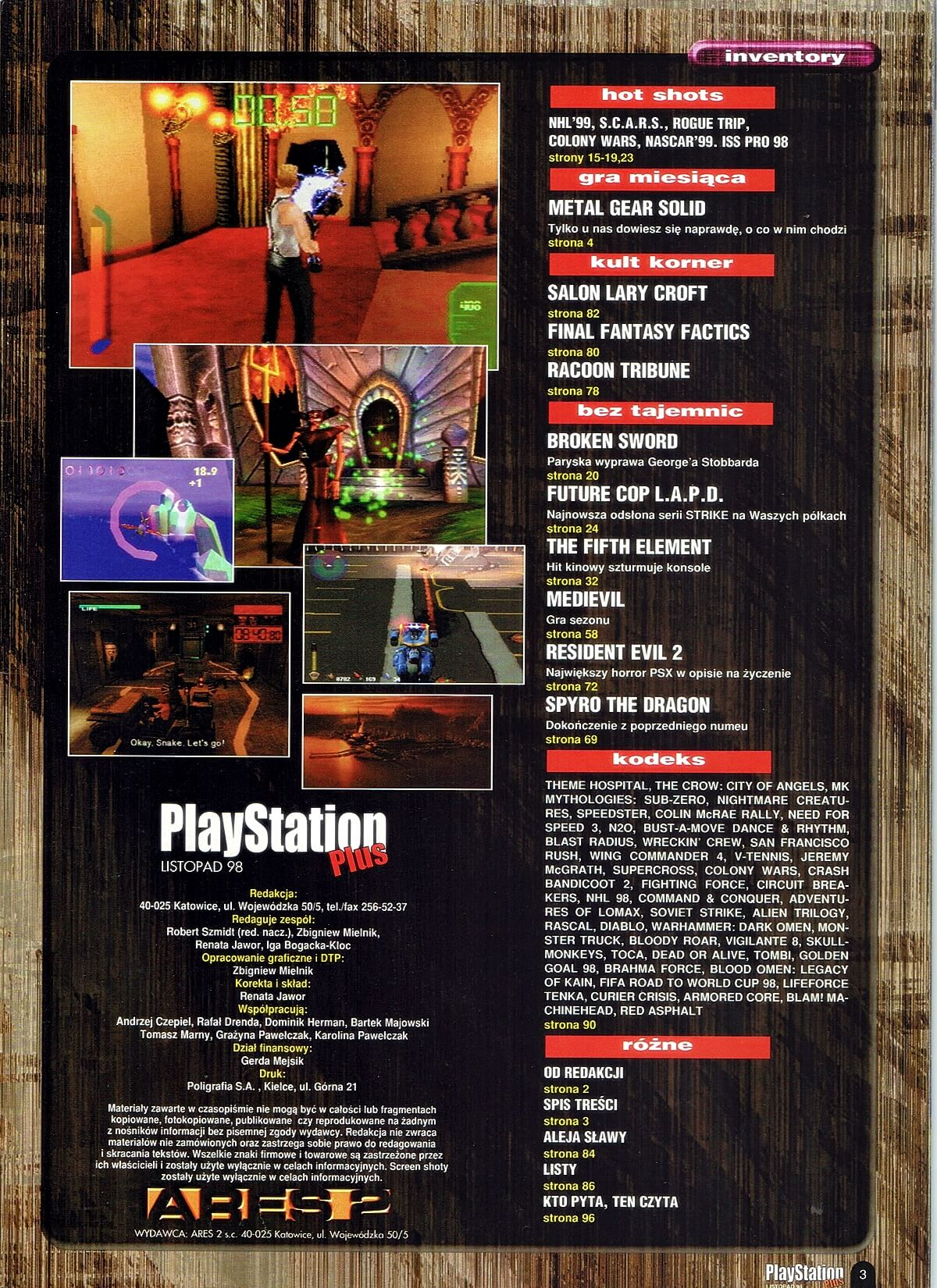 playstation plus magazyn 15 - PlayStation Plus 6/98