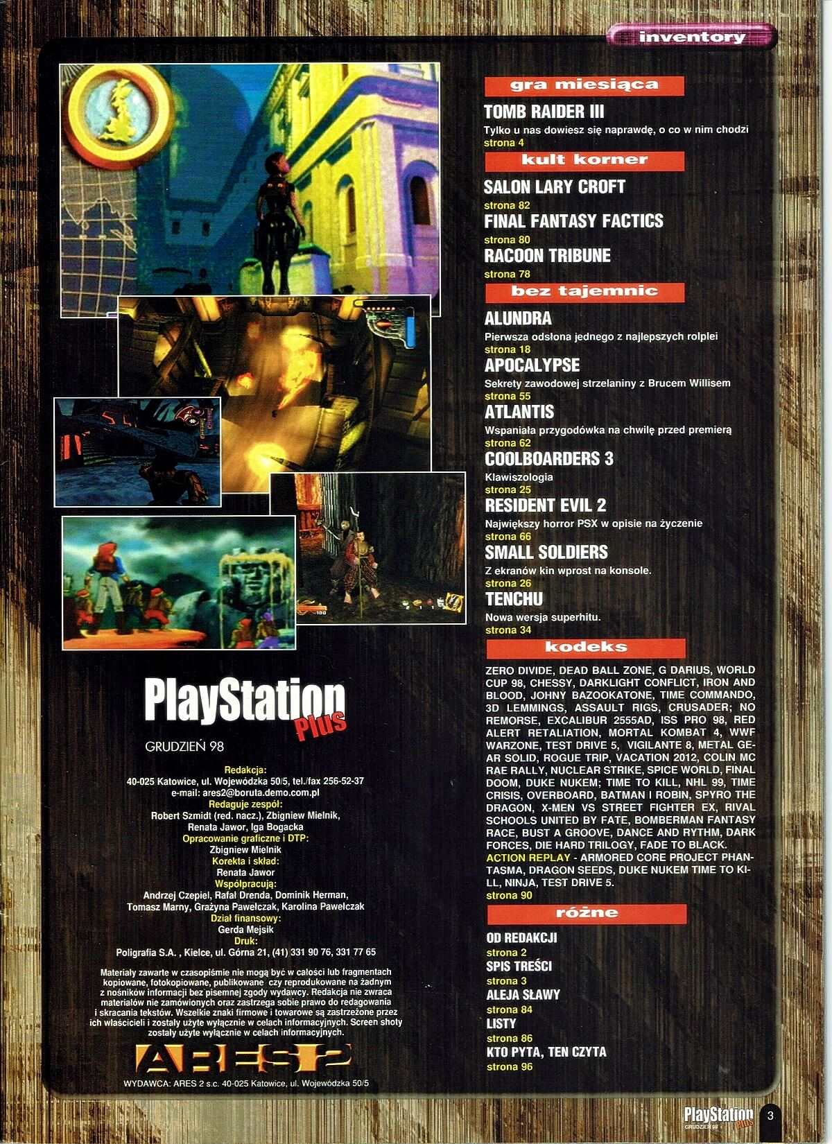 playstation plus magazyn 18 - PlayStation Plus 7/98