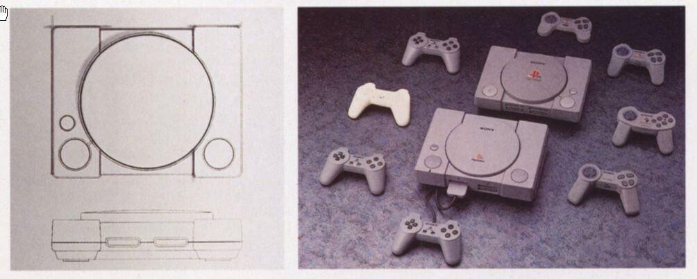 wyglad playstation - Wczesny wygląd konsoli PlayStation