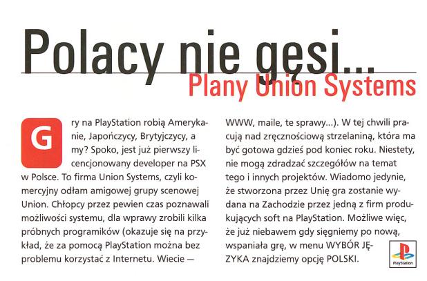 unionsystems - Prima Aprilis - Śladami pierwszej (niedoszłej), polskiej gry na PSX