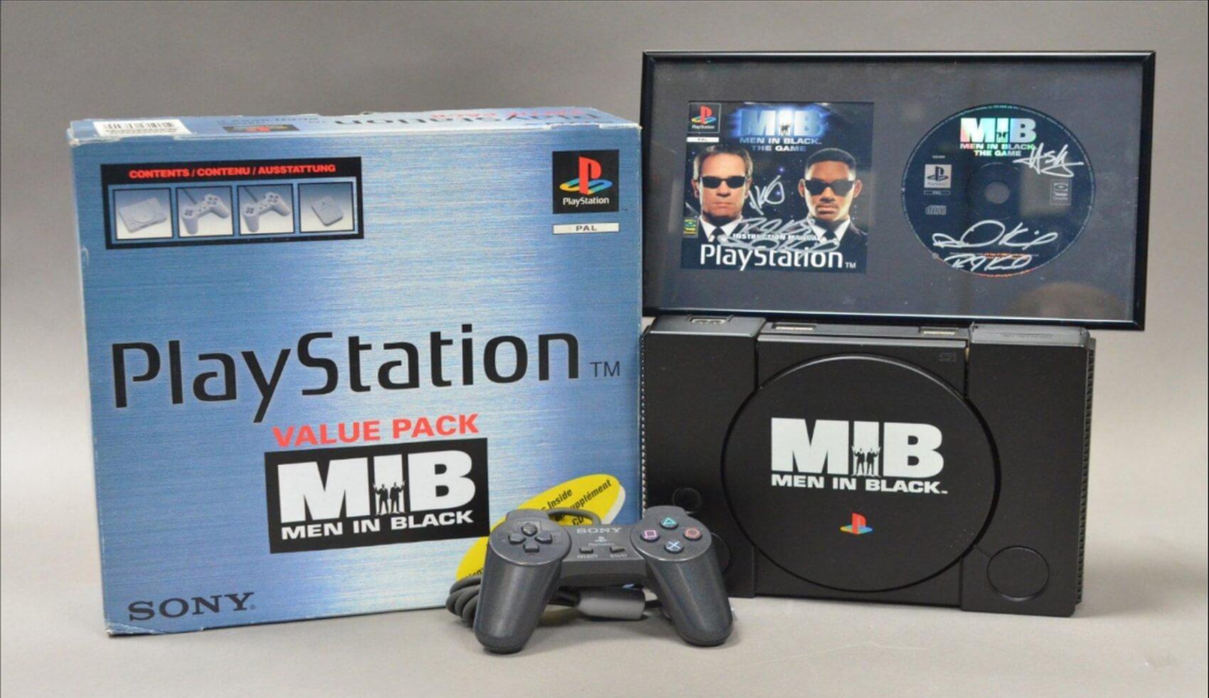"playstation men in black limited baner - [SCPH-5552] PlayStation ""Value Pack"""