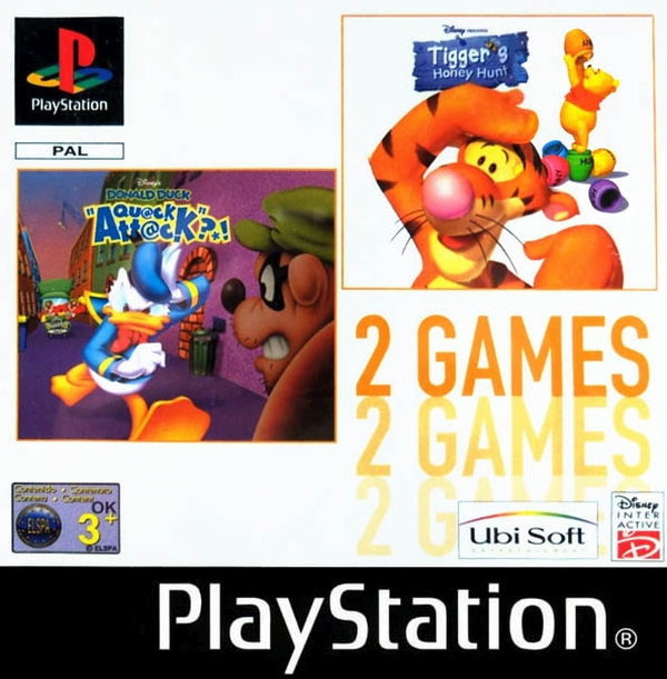 2games donald duck tigger - Na tropie historii edycji gier - 2 Games / Twin Pack / Double Pack