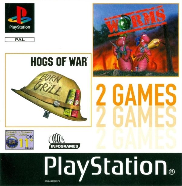 2games hogs of war worms - Na tropie historii edycji gier - 2 Games / Twin Pack / Double Pack