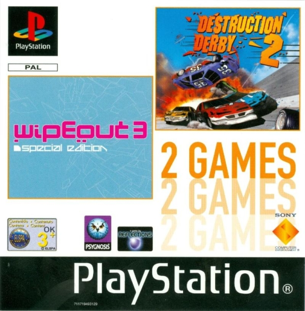 2games wipeout3 destruction derby2 - Na tropie historii edycji gier - 2 Games / Twin Pack / Double Pack