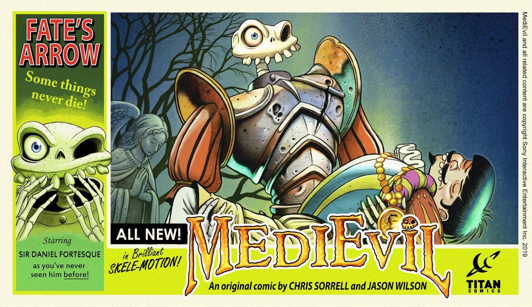 medievil komiks - Wyjątkowa edycja Medievil Digital Deluxe Edition na PS4