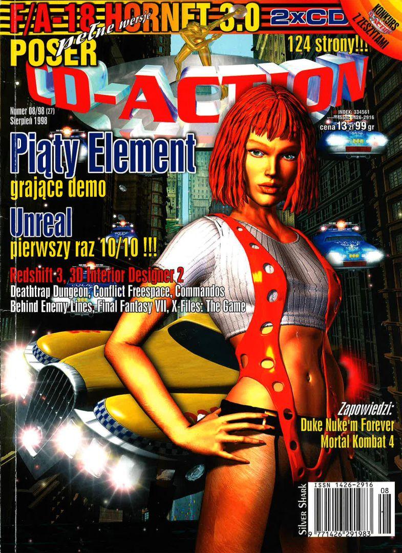 ffvii cdaction cover - Jak oceniano Final Fantasy VII w Polsce w 1997/1998 roku?