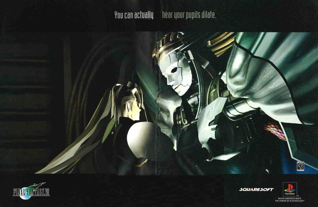 ffvii psm poster - Jak oceniano Final Fantasy VII w Polsce w 1997/1998 roku?