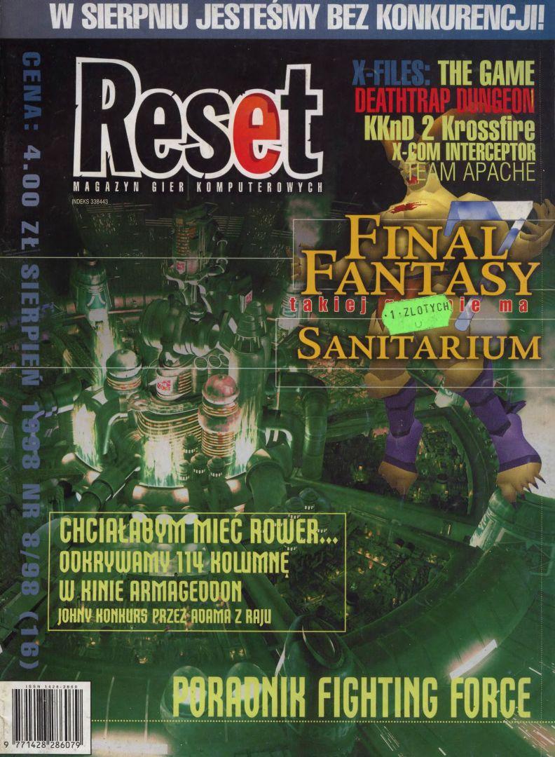 ffvii reset cover - Jak oceniano Final Fantasy VII w Polsce w 1997/1998 roku?