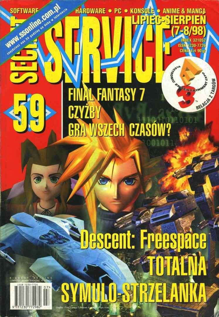 ffvii secretservice cover - Jak oceniano Final Fantasy VII w Polsce w 1997/1998 roku?